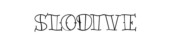 Tattoo Font Outline Style