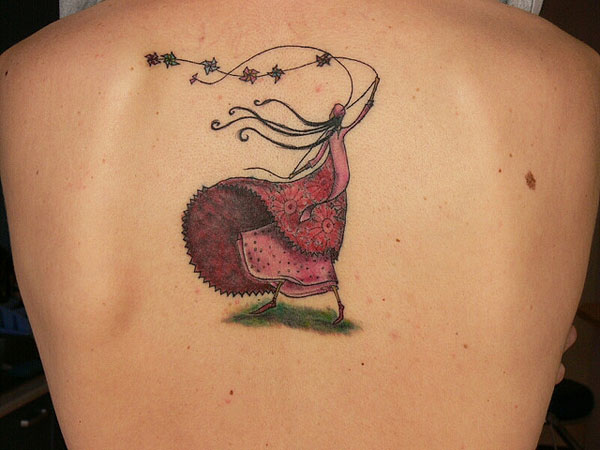 camis back tattoo 25 Unbelievable Girl Back Tattoos
