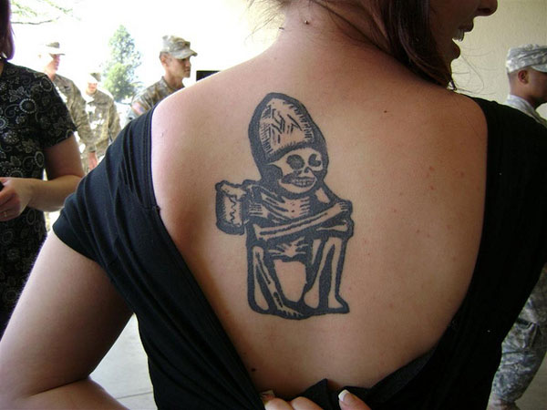 rogue back tattoo 25 Unbelievable Girl Back Tattoos