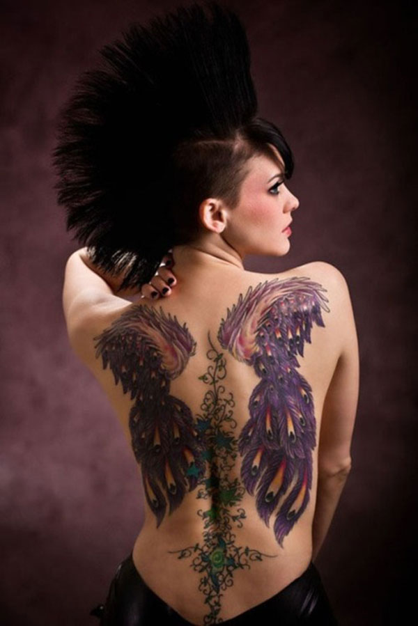 wings back tattoo 25 Unbelievable Girl Back Tattoos