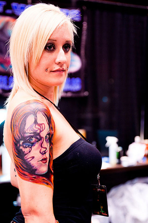 scary tattoo 25 Sensational Girl Shoulder Tattoos