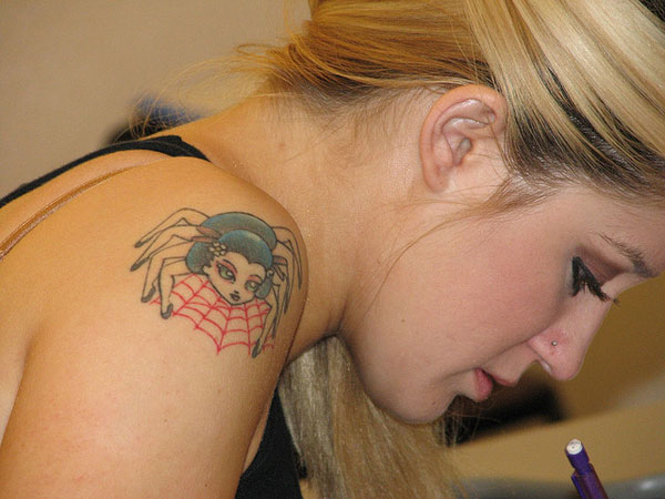 Spider Girl Tattoo