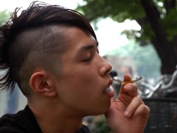 smoking chief 30 Oustanding Half Shaved Hairstyles