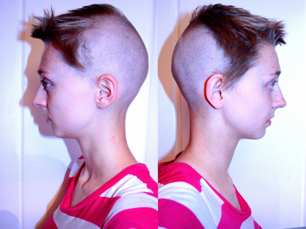Half Shaved Hairstyles Slodive