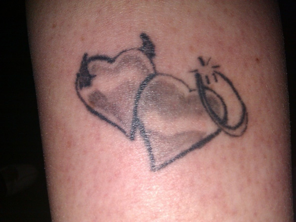 Heart with Halo Tattoo
