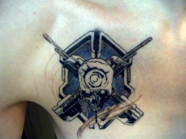 Halo Skull Tattoo Trophy