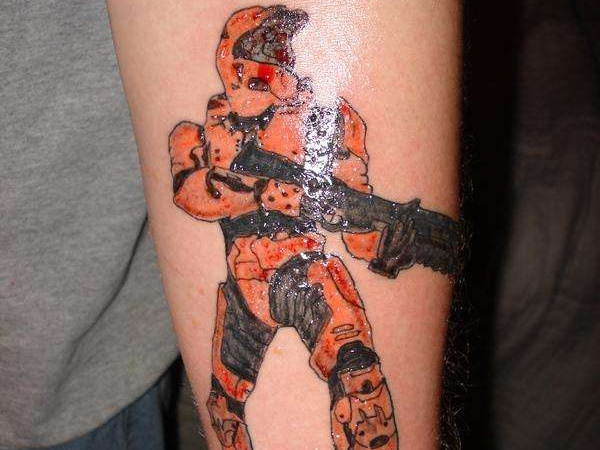 Halo Shooter Tattoo