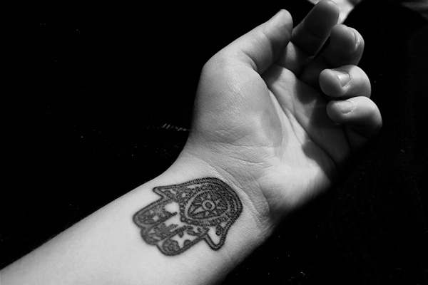 Hamsa Bordered Tattoo