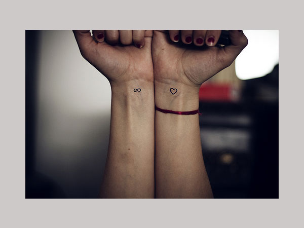 Heart and Infinity Love Tattoo on Wrists