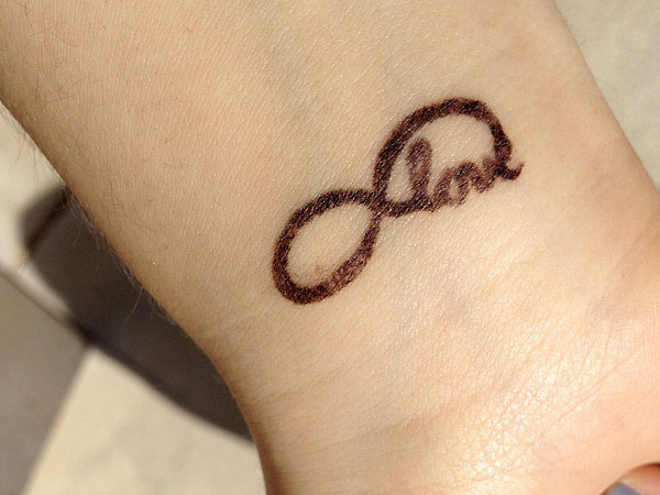 wrist tattoo 25 Fascinating Infinity Love Tattoo