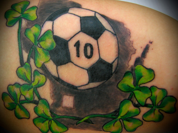Irish Foorball Men's Tattoo
