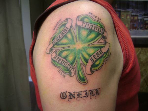Irish Text Tattoo