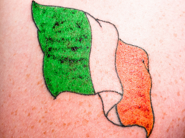 Irish Flag Men's Tattoo