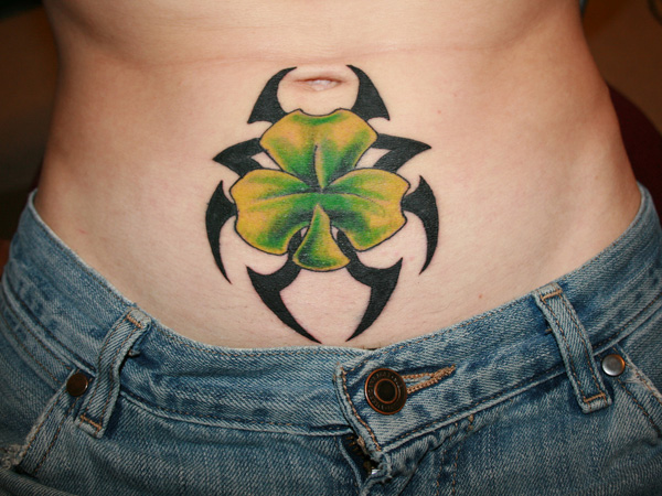 Irish Men's Stomach Tattoo