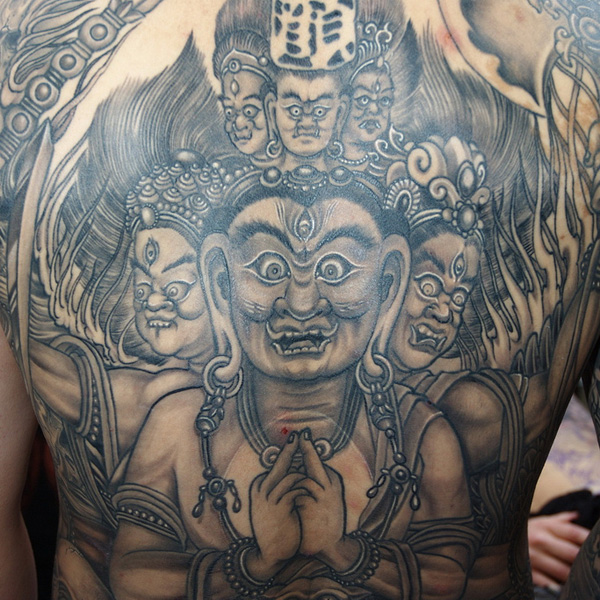 Buddhist Deities in Ink