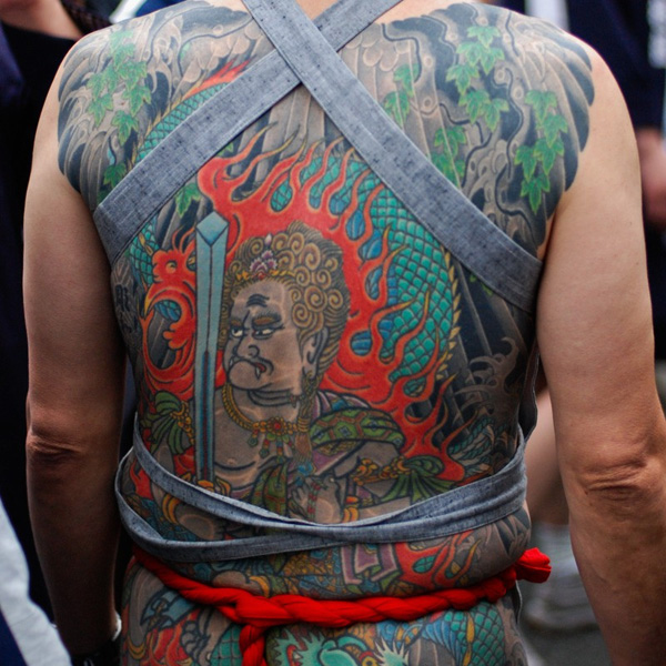 The Great Matsuri Back Tattoo