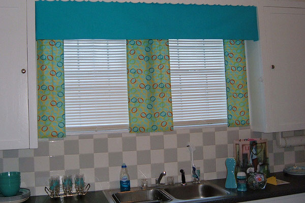 Balloon Pattern Kitchen Curtains