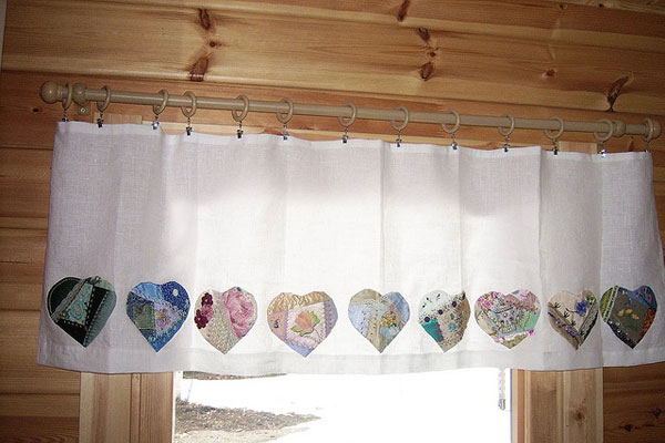 Patchwork Hearts Curtain