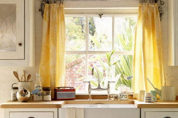 Kitchen Curtains Yellow