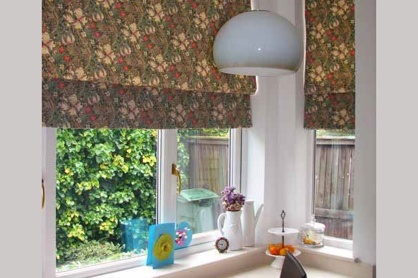 Kitchen Floral Curtain
