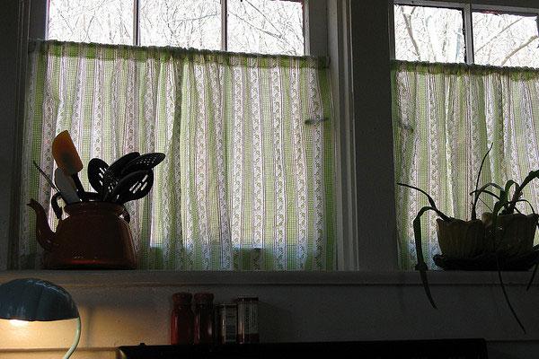 Garden Theme Kitchen Curtains