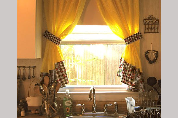 indian colors kitchen curtains