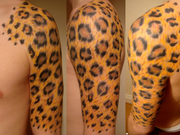 30 majestic leopard print tattoos slodive leopard yellow print thecheapjerseys Choice Image