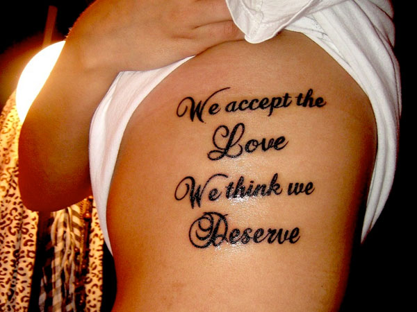 Quote Tattoos On Rib Cage