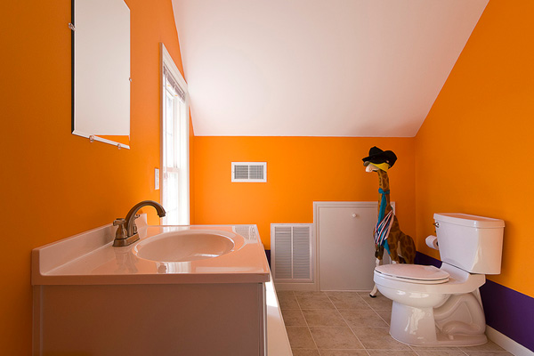 Decorating Bathroom Ideas Orange