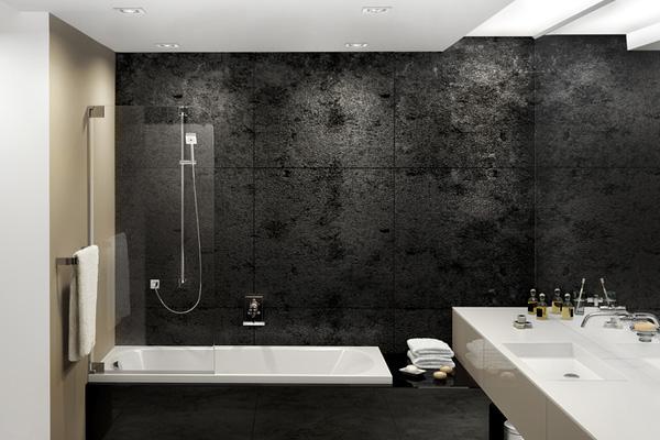 Black Grunge Modern Bathroom