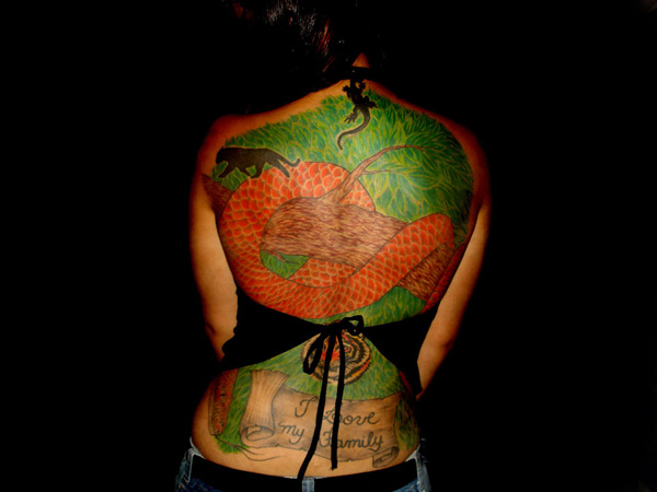 Complete Back Nature Tattoo