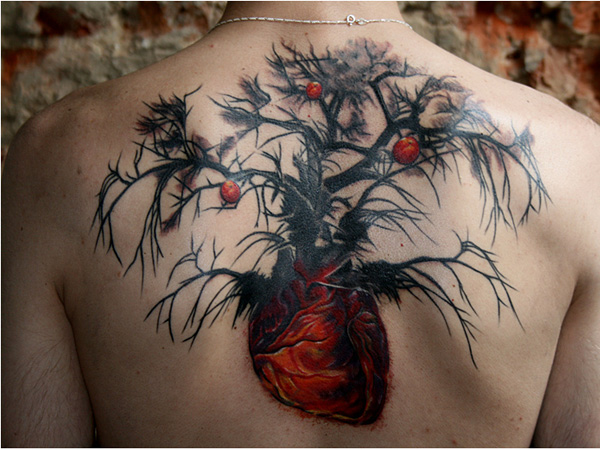 Black and Red Nature Tattoo