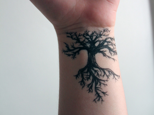 Root & Shoot Hand Tattoo