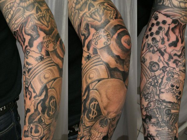 new school armsleeve 25 New School Tattoos You Can Have On You