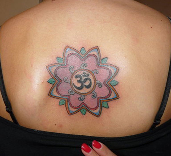 Om Colorful Tattoo
