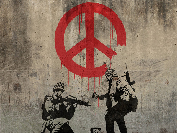 Peace Symbol in Graffiti