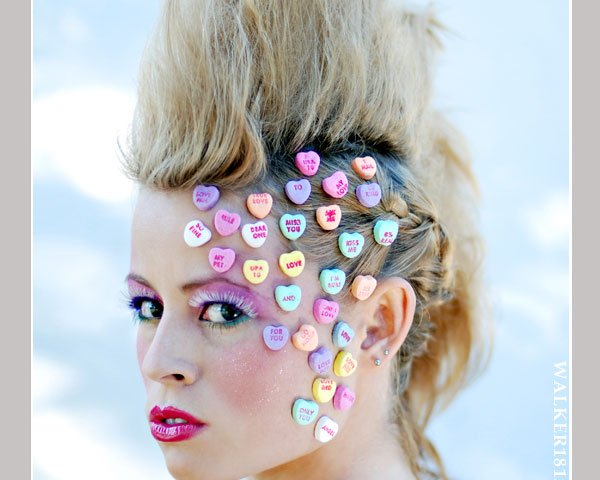 candy heart punk 35 Exceptional Punk Hairstyles