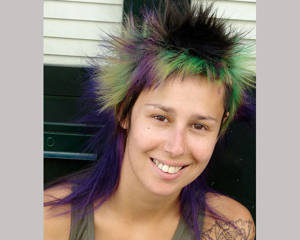 dyed hair 35 Exceptional Punk Hairstyles