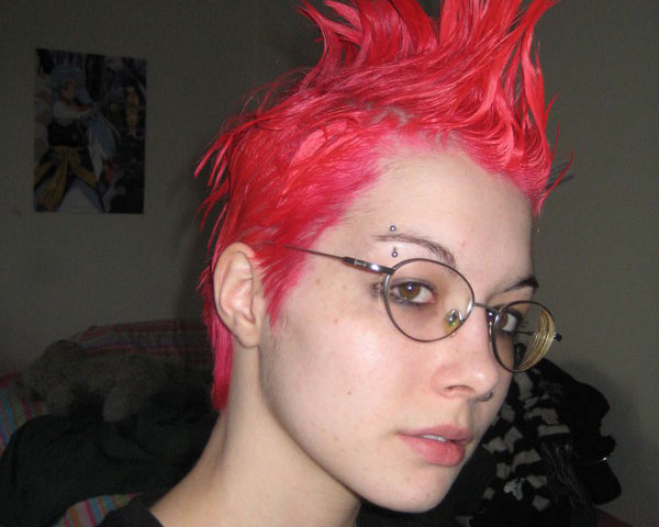 red mohawk 35 Exceptional Punk Hairstyles