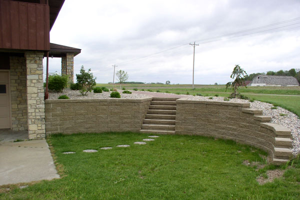 Graceful Retaining Wall Idea