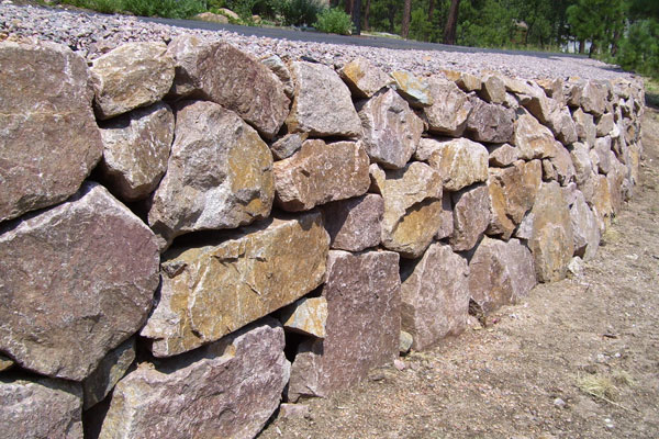 Craggy Retaining Wall