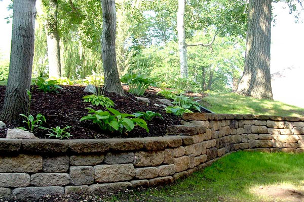 Retaining Wall Natural Look