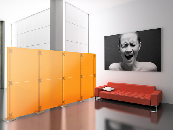 Room Partition in bright hues