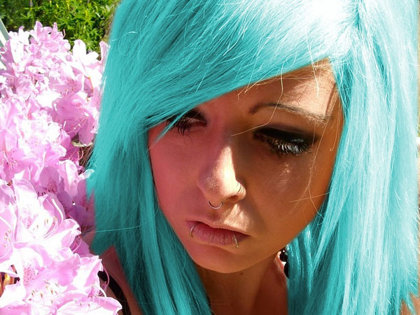 blue turquoise 35 Charming Scene Hairstyles For Girls