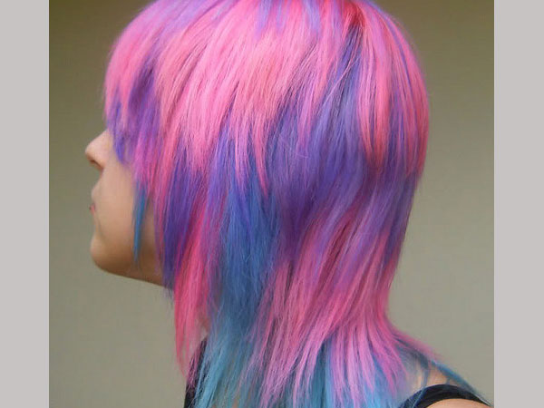 rainbow scene hair 35 Charming Scene Hairstyles For Girls