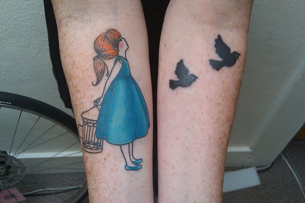 birds tattoo 25 Simple Tattoos For Girls