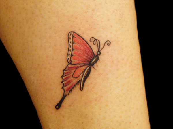 Butterfly Red Tattoo