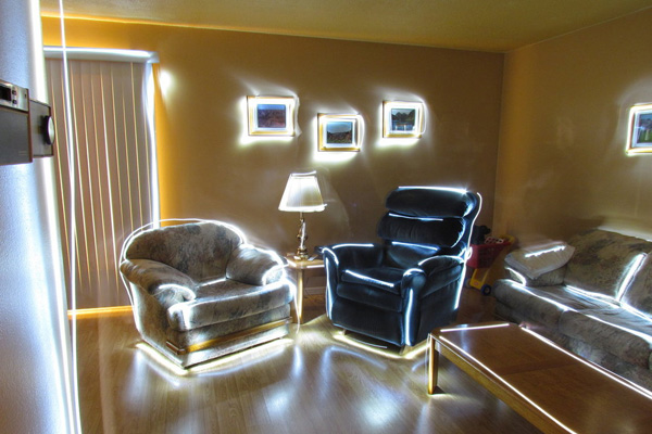 Neon Cool Living Room