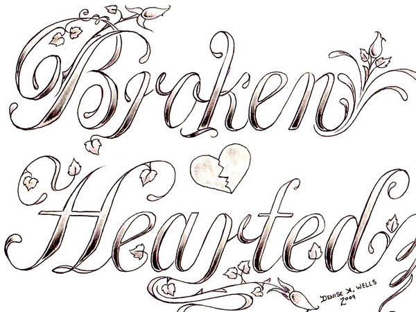 broken hearted 30 Mind Blowing Tattoo Sketches