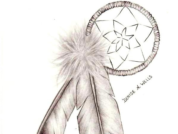 dreamcatcher and eagle feathers 30 Mind Blowing Tattoo Sketches
